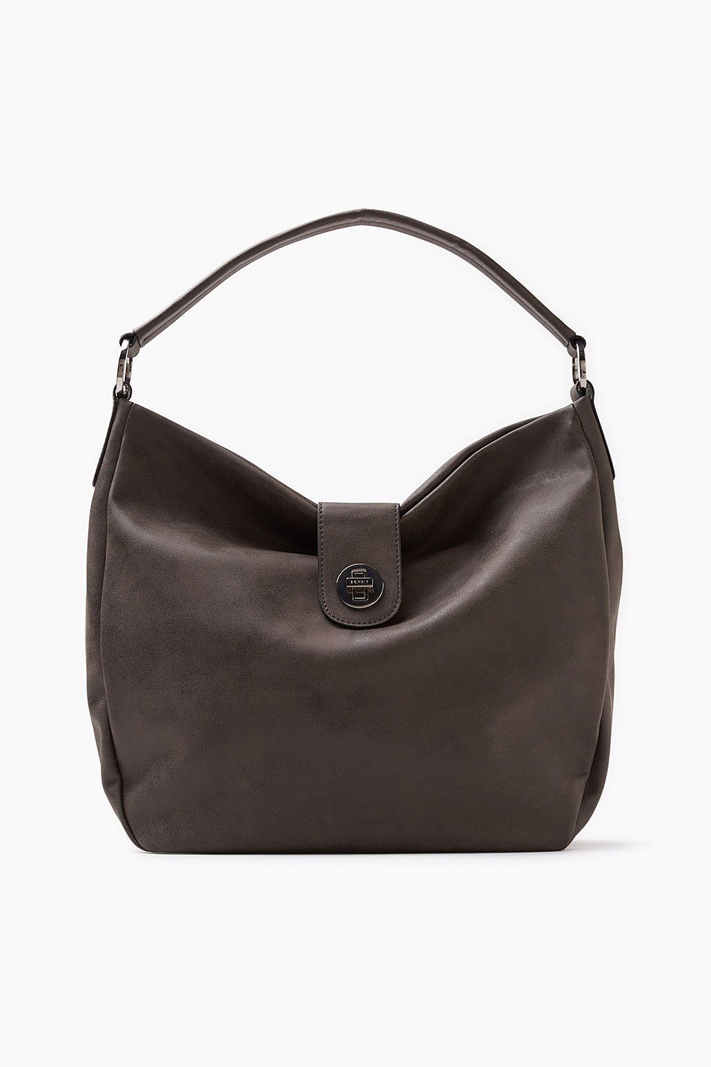 ESPRIT CASUAL Hobo Bag in gebrushter Lederoptik
