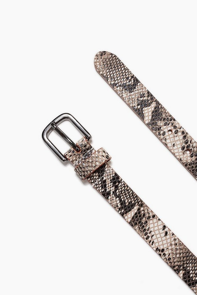 ESPRIT CASUAL Gürtel aus Rindsleder im Python-Look in BLACK