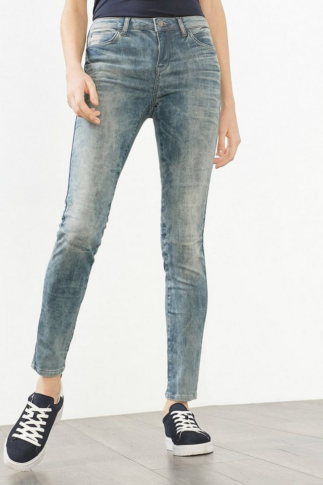 ESPRIT CASUAL Washed Out Stretch Denim in GREY MEDIUM WASHED