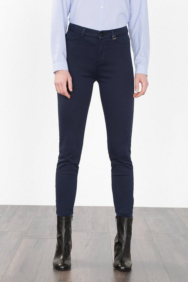 ESPRIT CASUAL Treggings mit hoher Taille in NAVY