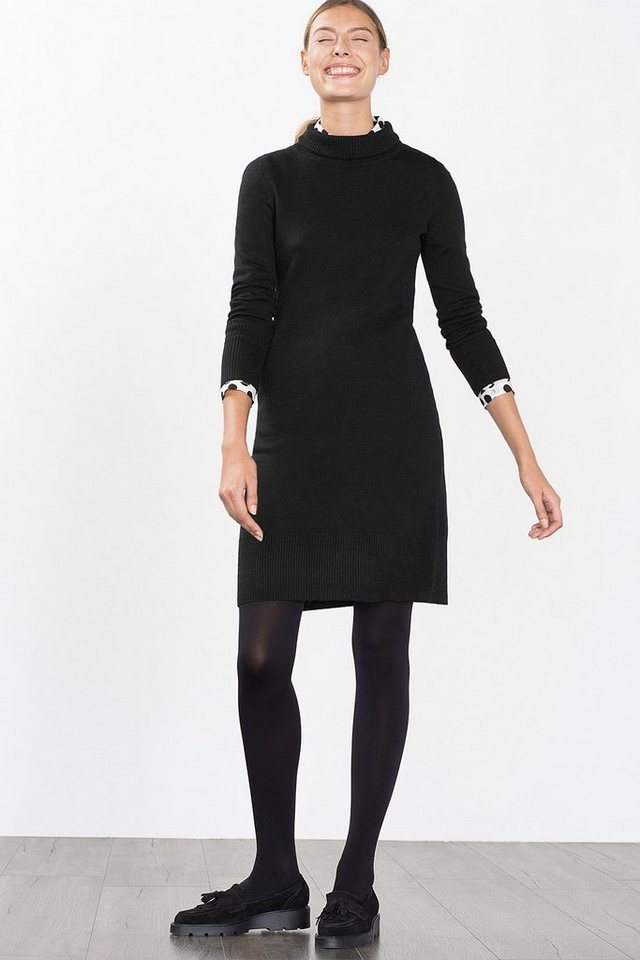 ESPRIT CASUAL Tailliertes Feinstrick-Kleid mit Rolli in BLACK