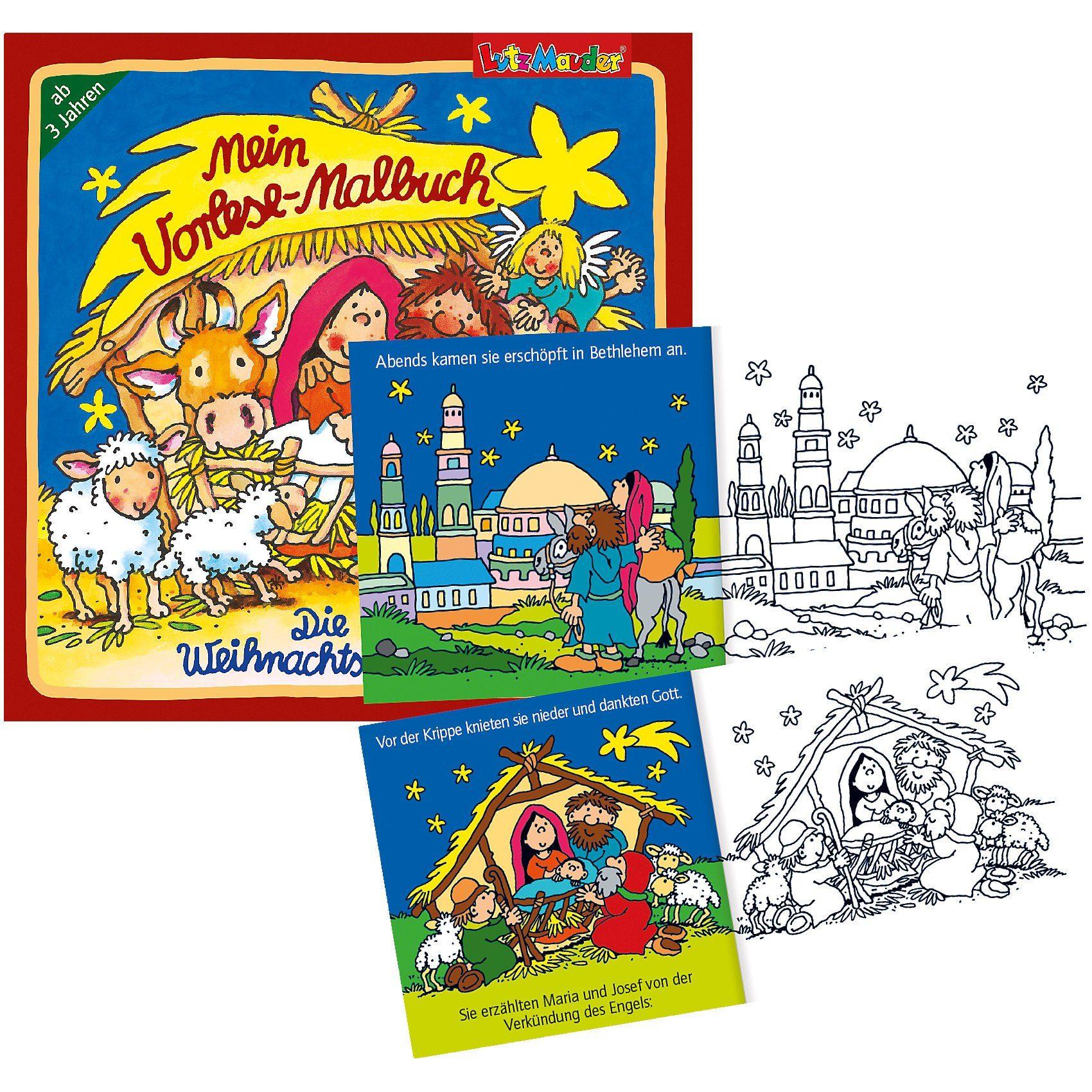 Lutz Mauder Verlag Vorlesemalbuch Weihnachten