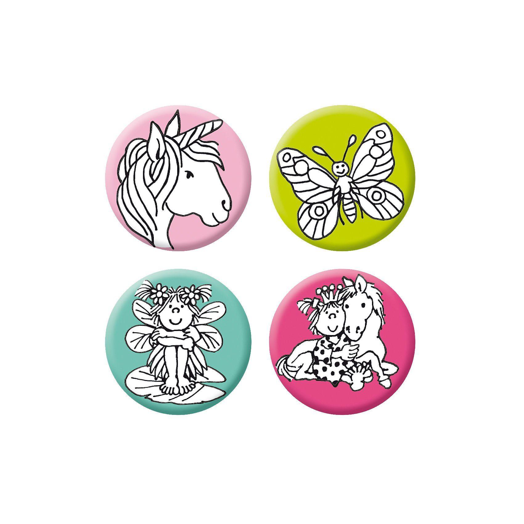 Lutz Mauder Verlag Mini-Reflektor-Button-Set Mädchen 2, 4-tlg.