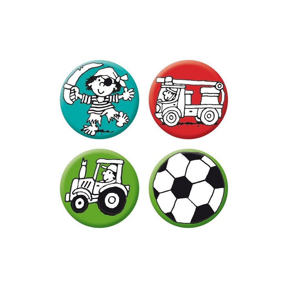 Lutz Mauder Verlag Mini-Reflektor-Button-Set Jungen 2, 4-tlg.