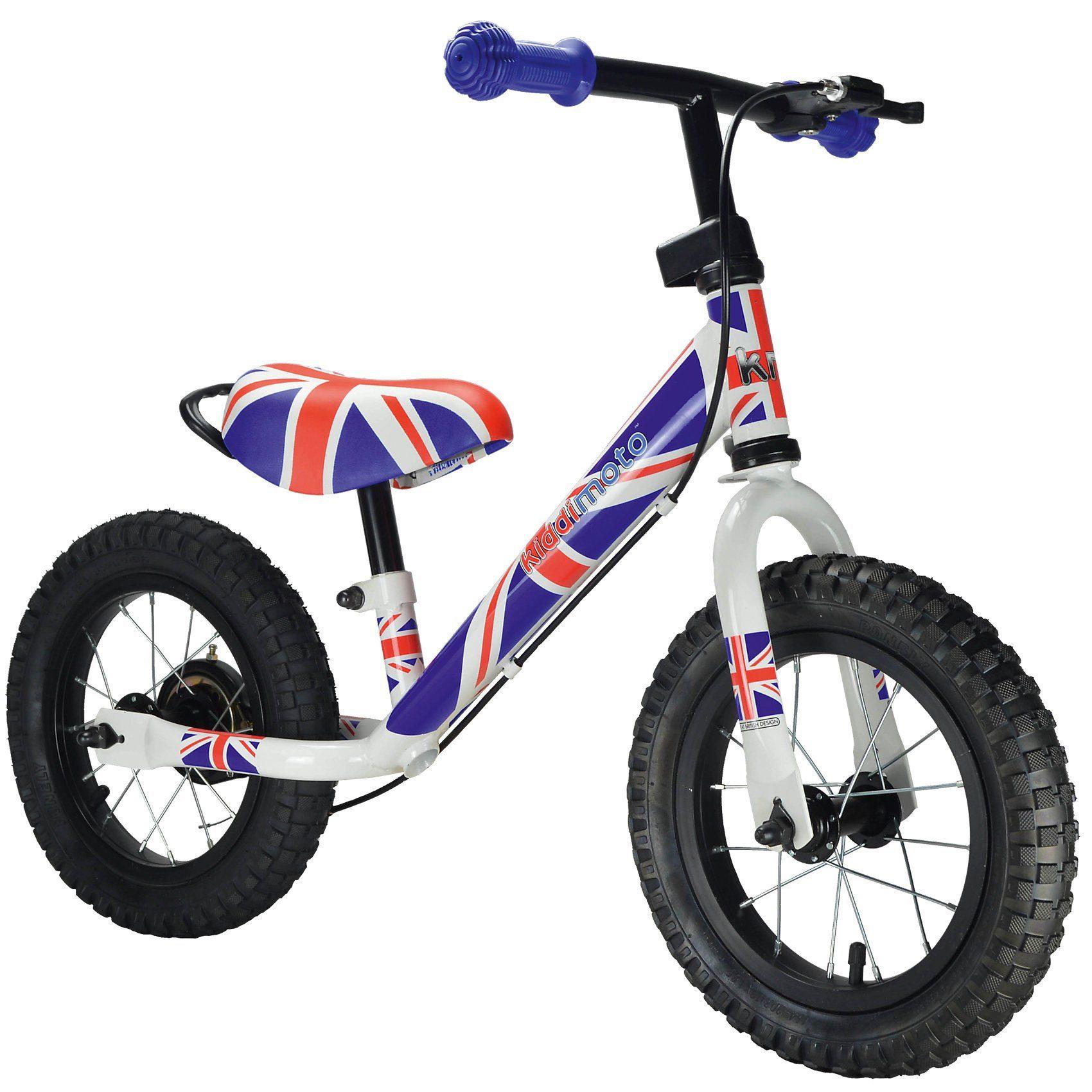 kiddimoto Metall Laufrad mit Bremse, Union Jack