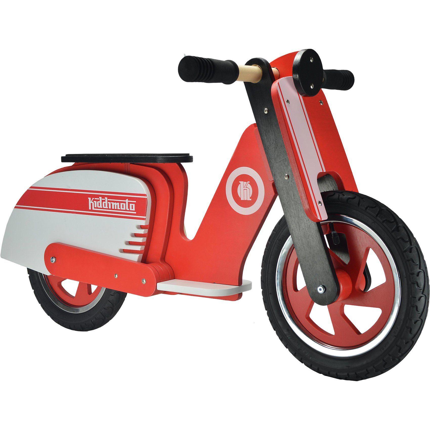 kiddimoto Retro Laufrad, Red Stripe