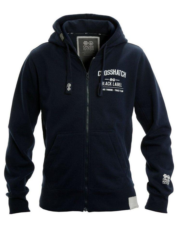 CROSSHATCH Sweatshirt »Beaky« in dunkelblau