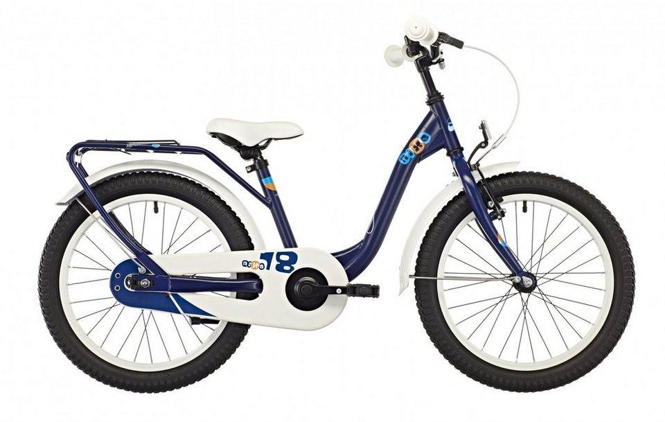 S'COOL Kinderrad »niXe 18 steel blue/orange« in blau