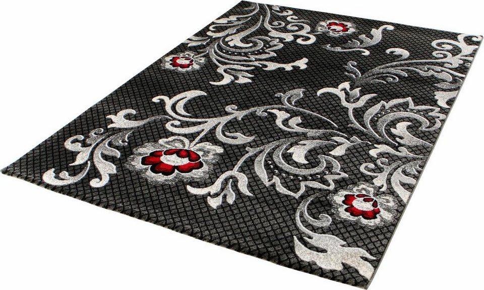 Orient-Teppich, Impression, »Tango 2202«, gewebt in dunkelgrau