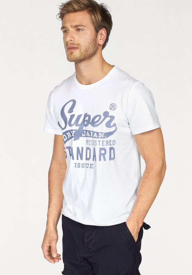 Superdry T-Shirt »STANDARD ISSUE TEE« in white