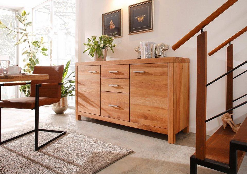 Premium collection by Home affaire Sideboard »Madeira«, mit 2 Türen & 3 Schubladen, Breite 172 cm in Wildeiche geölt