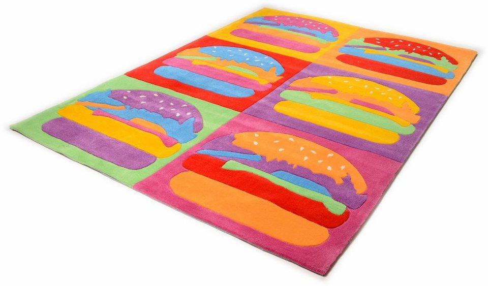 Kinder-Teppich, Theko, »Burger fun«, handgetuftet in multi