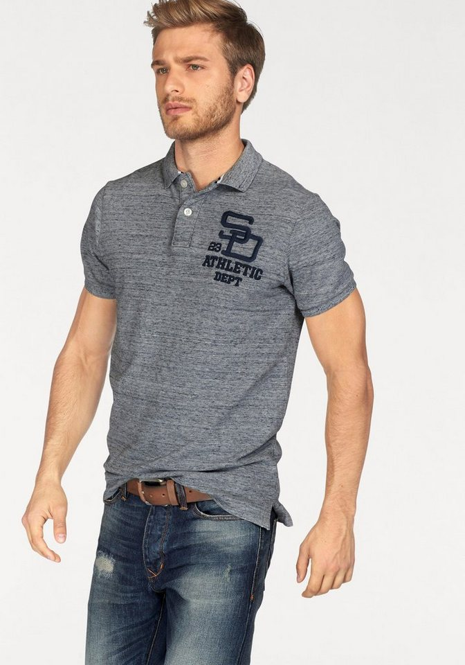 Superdry Poloshirt in grafit