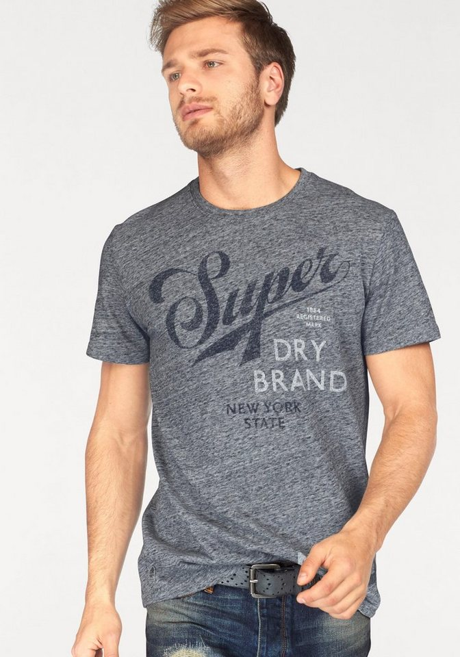 Superdry T-Shirt »DRY BRAND TEE« in grafit