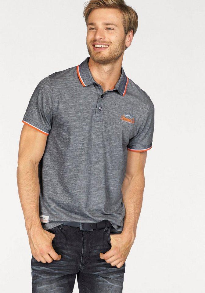 John Devin Poloshirt Piqué Qualität in grau-meliert
