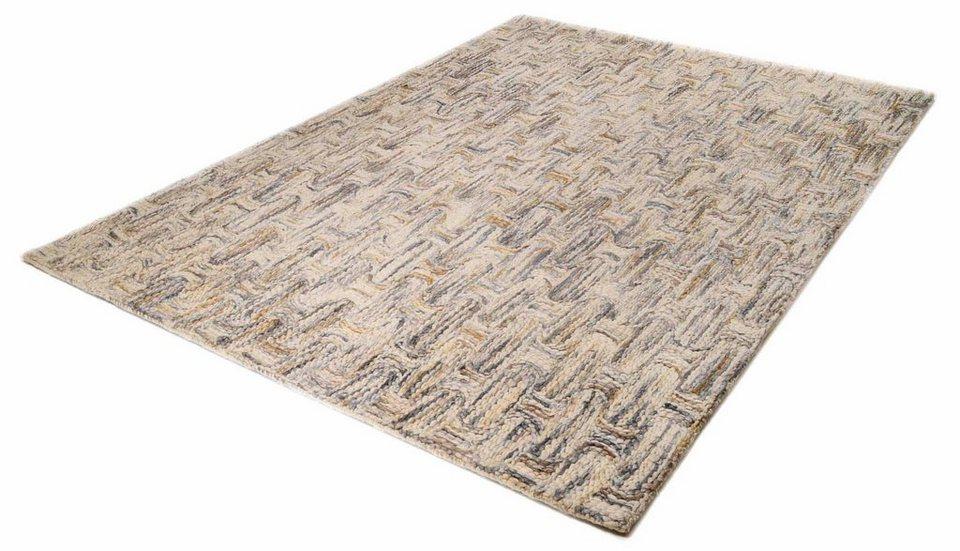 Teppich, Theko, »Modern Wool 2033«, reine Schurwolle, handgetuftet in beige