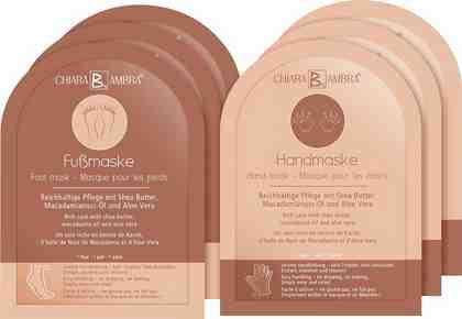 CHIARA AMBRA Pflege-Set »Hand-und Fußmaske« Set, 6-tlg., mit Shea Butter, Macadamianuss-Öl und Aloe Vera