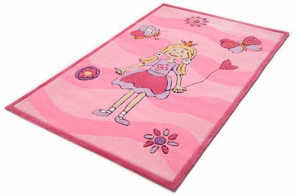 Kinder-Teppich, Theko, »Mali 3035«, handgetuftet in rose