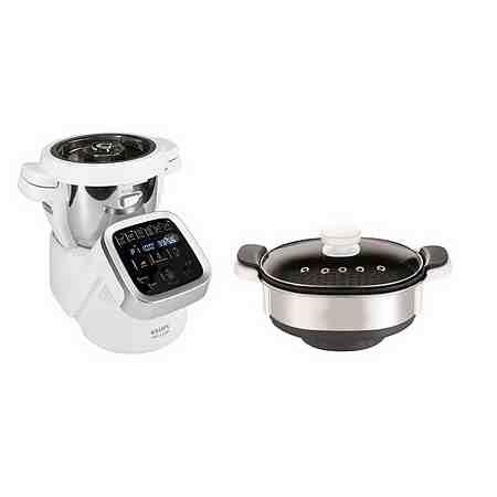 Krups Multifunktions-Küchenmaschine, HP5031.XMAS Prep&Cook,inkl. Dampfgaraufsatz