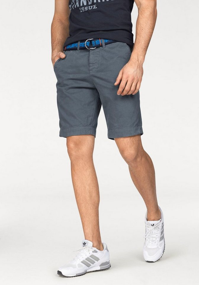 Superdry Shorts »INTERNATIONAL CHINO SHORT« in graublau