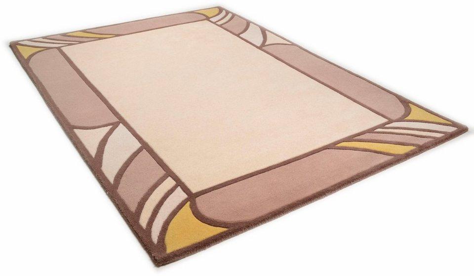 Teppich, Theko, »Aloha 6833«, reine Schurwolle, handgetuftet in beige