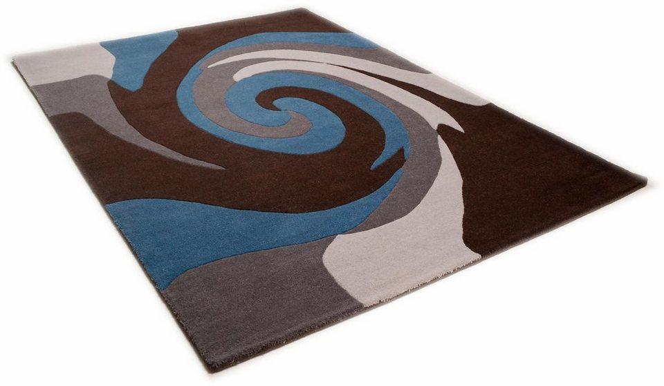 Teppich, Theko, »Aloha 6830«, reine Schurwolle, handgetuftet in grau multi