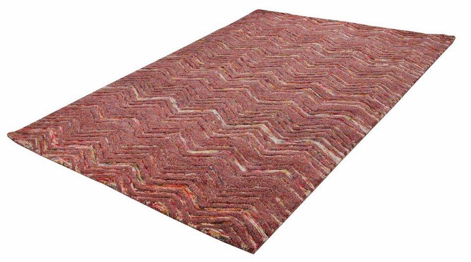 Teppich, Theko, »Modern Wool 2440«, reine Schurwolle, handgetuftet in terra
