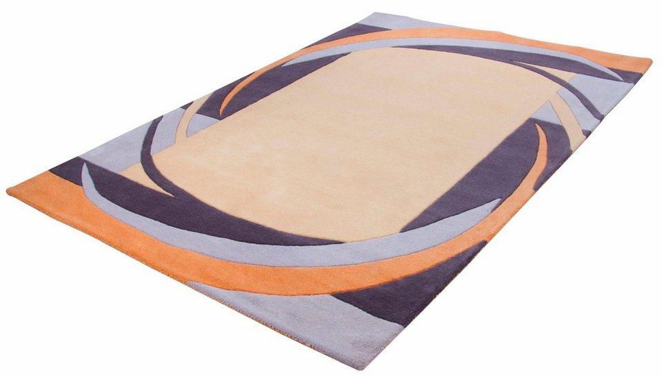 Teppich, Theko, »Aloha 6834«, reine Schurwolle, handgetuftet in multi beige