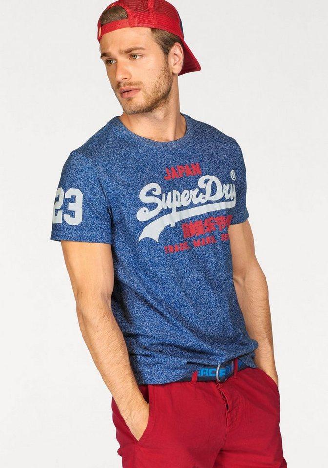 Superdry T-Shirt »VINTAGE LOGO NEW TEE« in royalblau