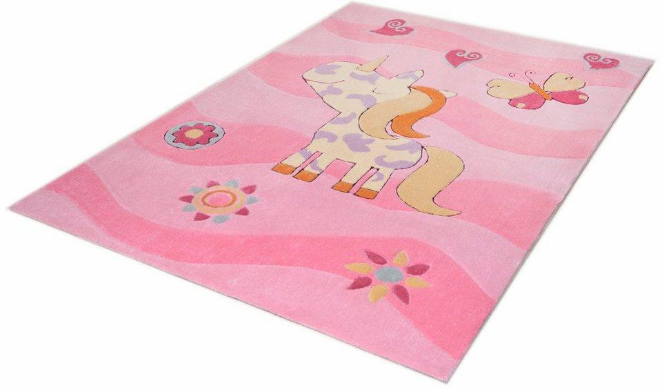 Kinder-Teppich, Theko, »Mali 3034«, handgetuftet in rose