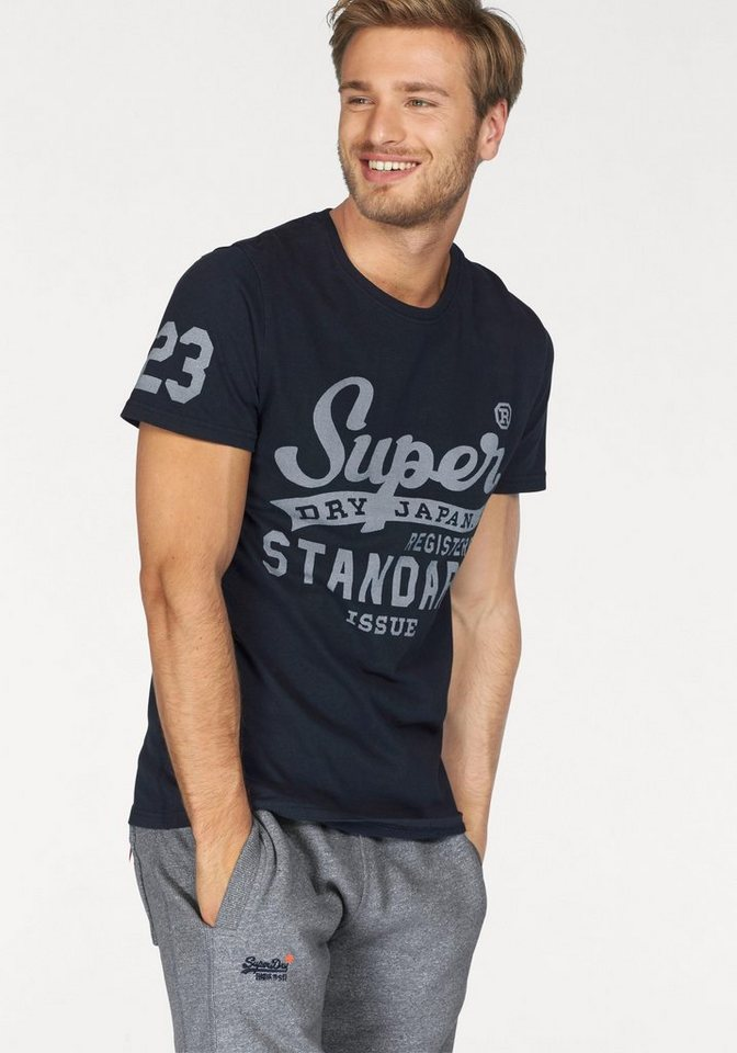 Superdry T-Shirt »STANDARD ISSUE TEE« in dunkelblau