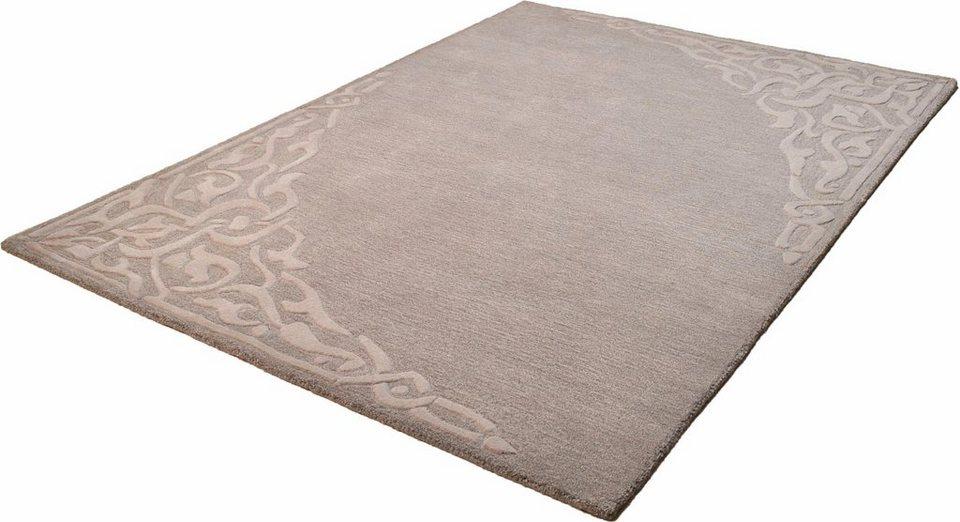 Teppich, Theko, »Aloha 8101«, reine Schurwolle, handgetuftet in grau