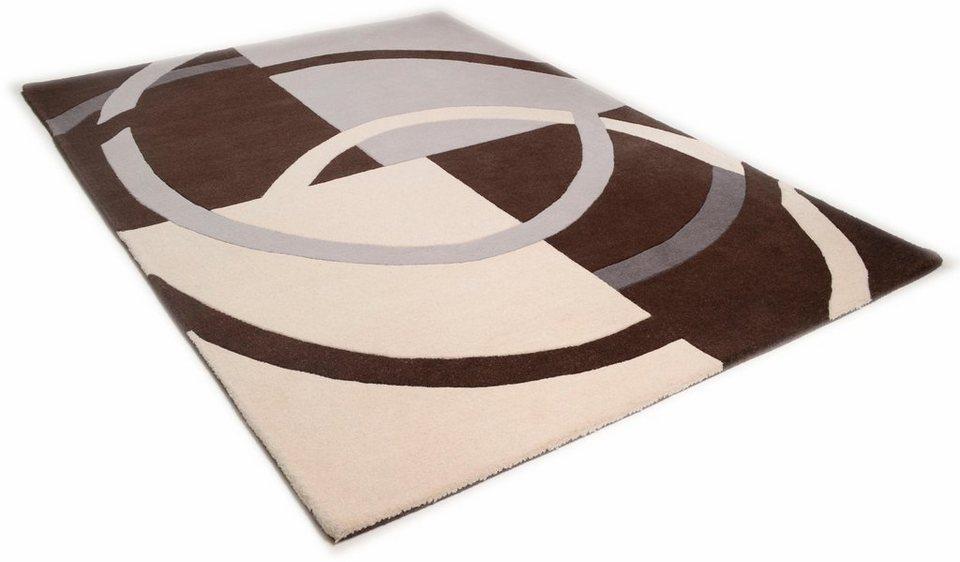 Teppich, Theko, »Aloha 6835«, reine Schurwolle, handgetuftet in braun