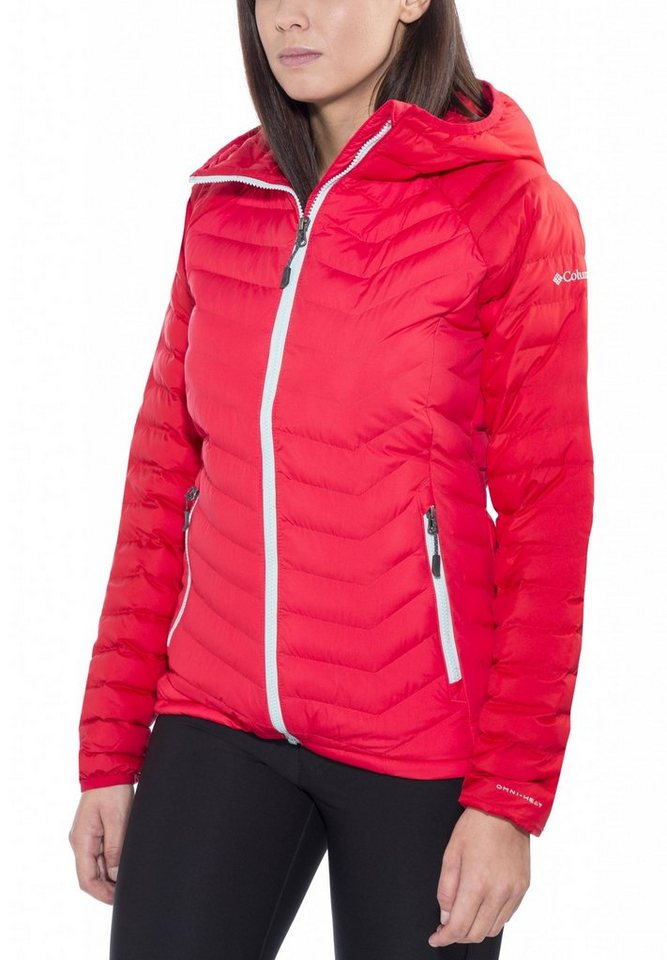 Columbia Outdoorjacke »Powder Lite Hooded Jacket Women« in rot