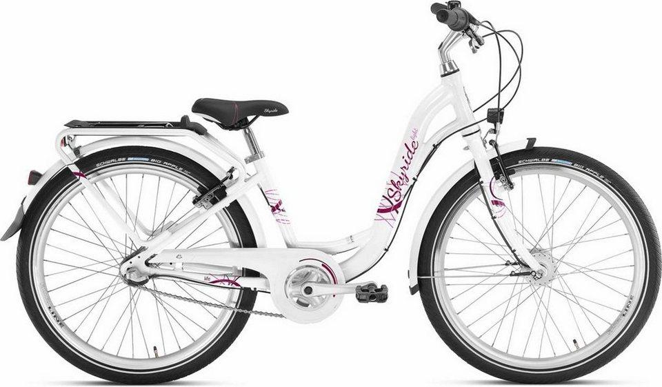 Puky Kinderrad »Skyride 24-3 Kinderfahrrad Alu light« in weiß