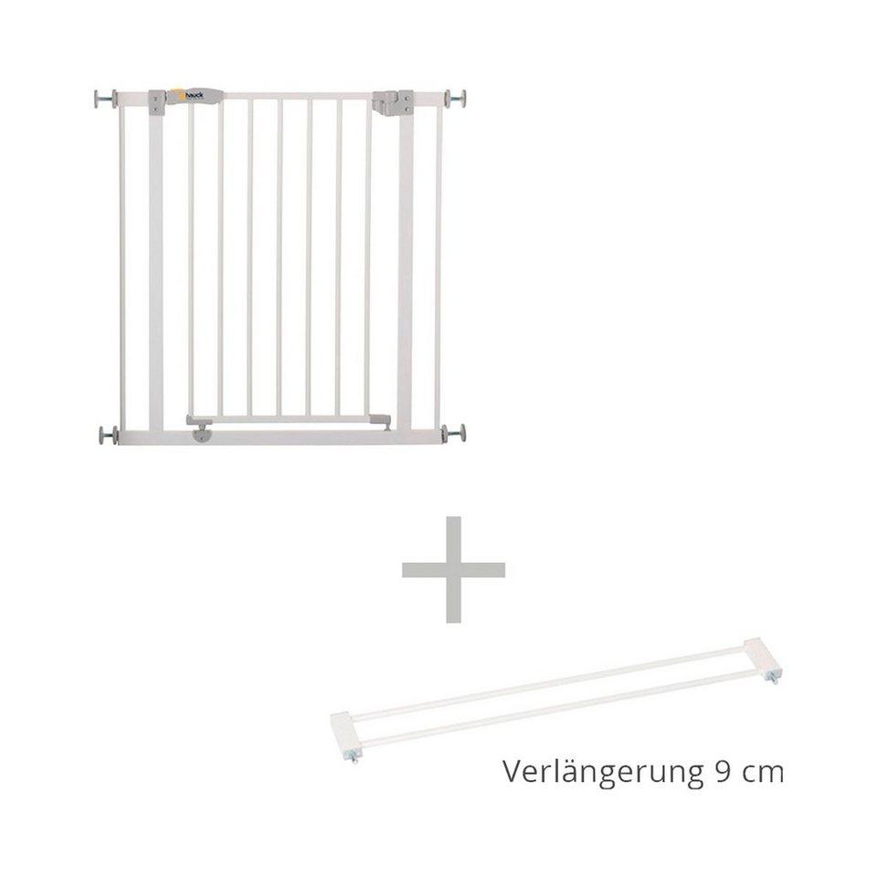 HAUCK Türschutzgitter + Verlängerung 9 cm Open' n Stop Safety Gate in weiß