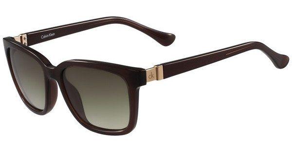 Calvin Klein Damen Sonnenbrille » CK3190S« in 210 - braun/grün
