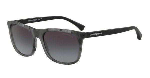 Emporio Armani Herren Sonnenbrille » EA4056«, braun, 55518G - braun/grau