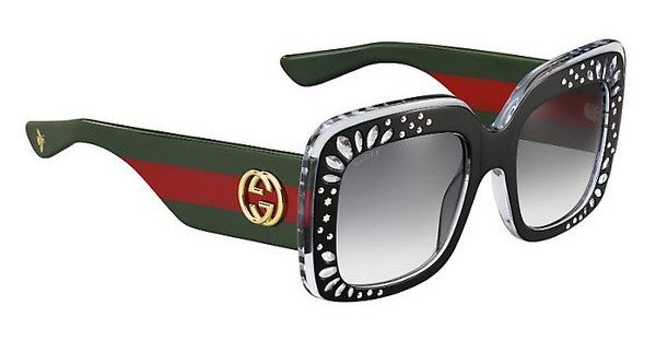 Gucci Damen Sonnenbrille » GG 3862/S« in YL1/VK - schwarz/grau