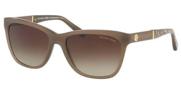 MICHAEL KORS Michael Kors Damen Sonnenbrille »RANIA II MK2022«, braun, 316713 - braun/braun