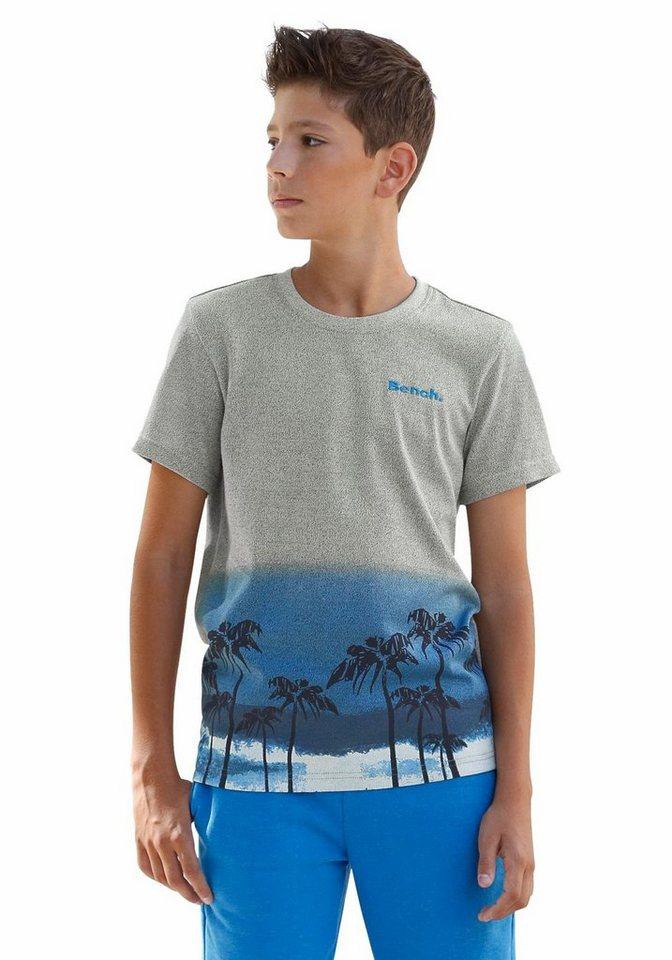 Bench T-Shirt Mit Druck am Saum in grau-meliert