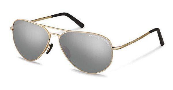 PORSCHE Design Porsche Design Herren Sonnenbrille » P8508«, schwarz, D - schwarz/grau