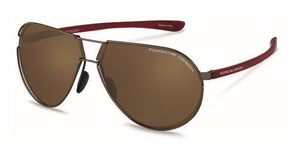 PORSCHE Design Porsche Design Herren Sonnenbrille » P8617«, schwarz, D - schwarz/ silber