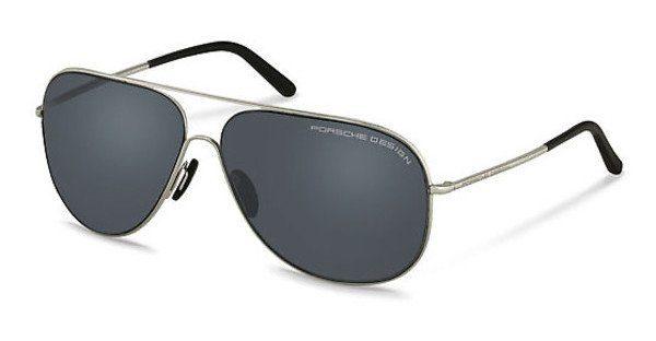 PORSCHE Design Porsche Design Herren Sonnenbrille » P8605«, schwarz, D - schwarz/silber