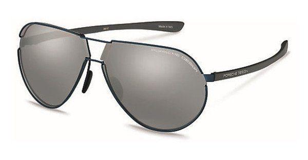 PORSCHE Design Porsche Design Herren Sonnenbrille » P8617«, blau, B - blau/silber