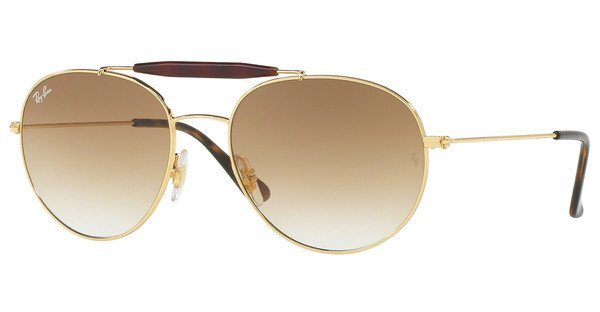 RAY-BAN Sonnenbrille » RB3540« in 001/51 - gold/braun