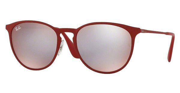 RAY BAN RAY-BAN Sonnenbrille »Erika Metal RB3539«, rot, 9023B5 - rot/silber