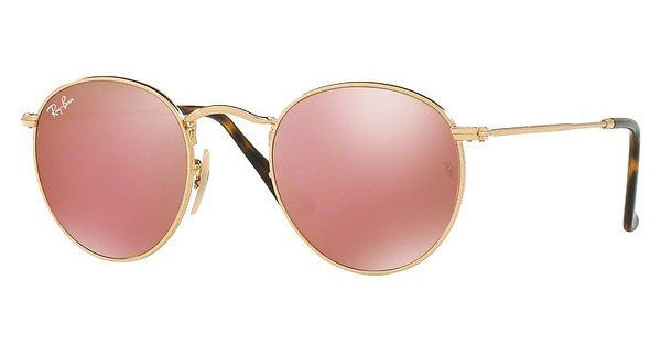 RAY-BAN Sonnenbrille »ROUND METAL RB3447N« in 001/Z2 - gold/rosa