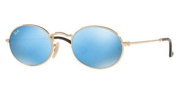 RAY-BAN Sonnenbrille » RB3547N« in 001/9O - gold/blau