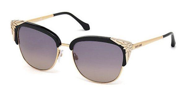 Roberto Cavalli Damen Sonnenbrille » RC1014« in 01B - schwarz/grau